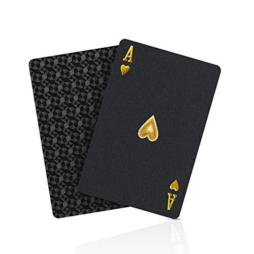 BIERDORF Schwarzer Diamant Kunststoff Pokerkarten Plastik wasserdichte Spielkarten- 1 Deck von...