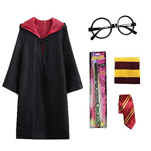 Amycute Mago Kinderkostüm Umhang Krawatte Schal Schal Magische Brillen Magische Fasching Fancy Dress...