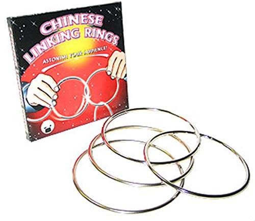 Chinese Linking Rings - Das Wunder der verketteten Ringe | Zaubertricks mit deutschsprachiger Anleitung |...