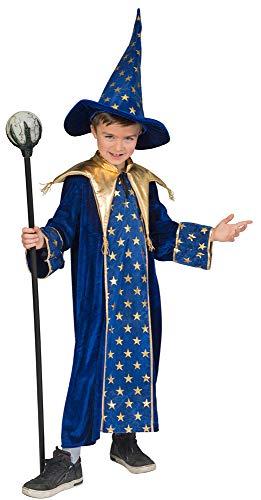 Zauberer Isior Kostüm für Kinder - Blau Gr. 116