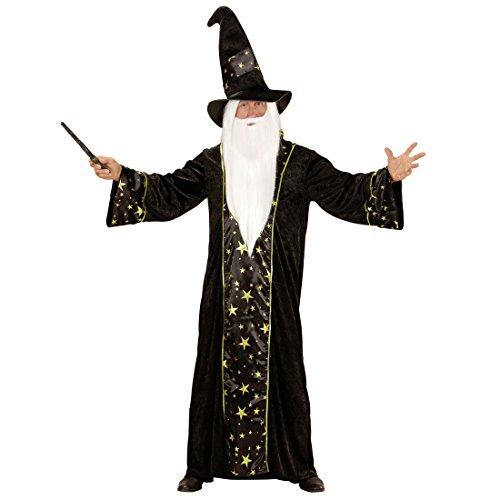 Amakando Magier Herrenkostüm - XL (54) - Gandalf Verkleidung Merlin Zauberkostüm Hexer Dumbledore...