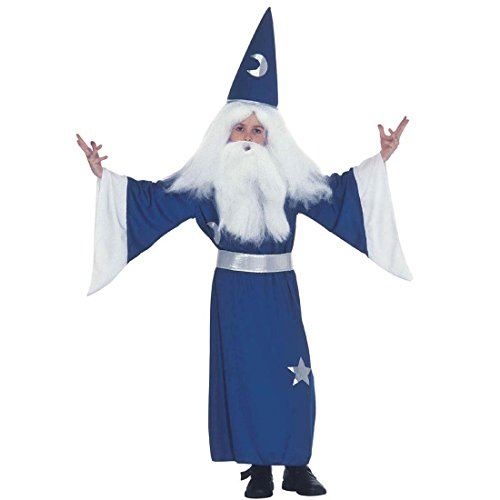 NET TOYS Zauberer Kostüm Gandalf Zaubererkostüm Kinder 140 cm 8-10 Jahre Magier Merlin Zauberkostüm...