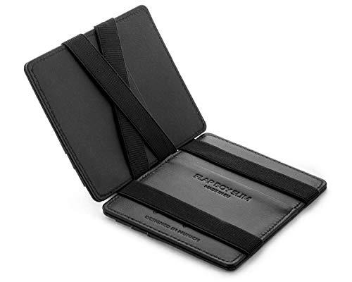 JAIMIE JACOBS Flap Boy Slim - Das Original - Magic Wallet ohne Münzfach integrierter RFID Schutz...