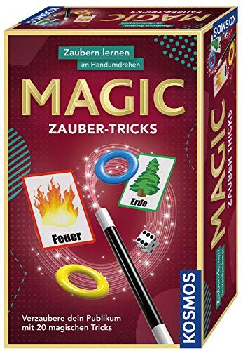 KOSMOS 657413 - Magic Zauber-Tricks, Zaubern lernen im Handumdrehen, Mit Zauberstab und Utensilien für...