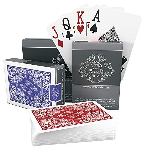 Bullets Playing Cards - 2X wasserfeste Designer Profi Plastik Pokerkarten mit Zwei Eckzeichen - Deluxe...