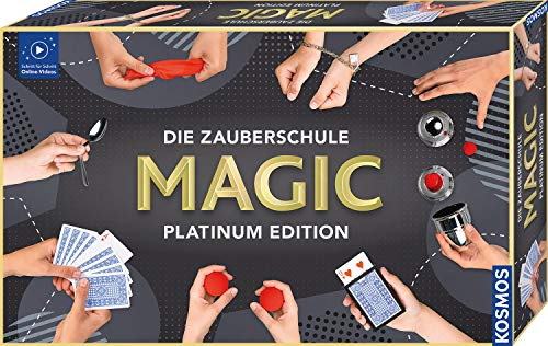 KOSMOS 697082 Die Zauberschule MAGIC Platinum Edition, 180 ZauberTricks, viele magische ZauberUtensilien,...