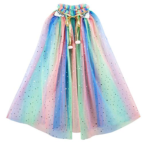 Tacobear Kinder Umhang Prinzessin Bunt Cape Prinzessin Halloween Kostüm Umhang Prinzessin Party Kostüm...