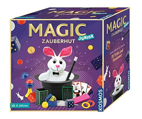 KOSMOS 680282 - Magic Zauberhut, Lerne einfach 35 Zaubertricks und Illusionen, Zauberkasten mit...