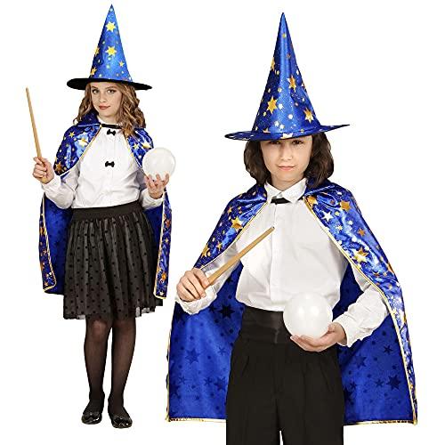 Widmann 5932 Kinderkostümset Zauberer, Blau, Gold