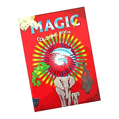 ProTriXX Magic Coloring Book - Das Zauber-Malbuch das Sich selbst ausmalt | Zauberbuch inkl....
