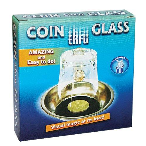 Zaubertricks und Zauberartikel Coin Thru Glass - Münze durchdringt Glas Zaubertrick, Lassen Sie eine...