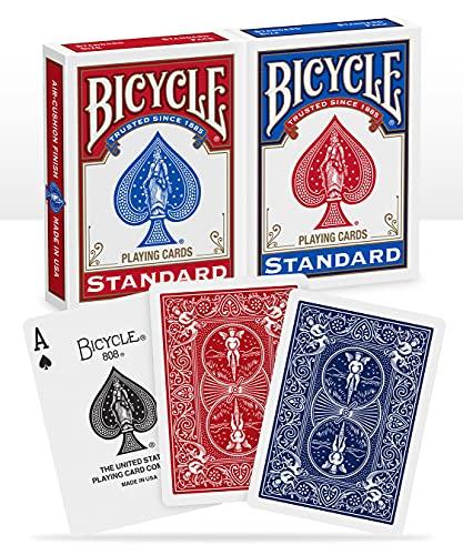 Bicycle 1001781 Standard Kartenspiel, Rot und Blau, Poker