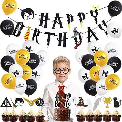 specool Geburtstag Dekorationen Junge Zauberer Geburtstag Dekoration Kindergeburtstag Deko Happy Birthday...