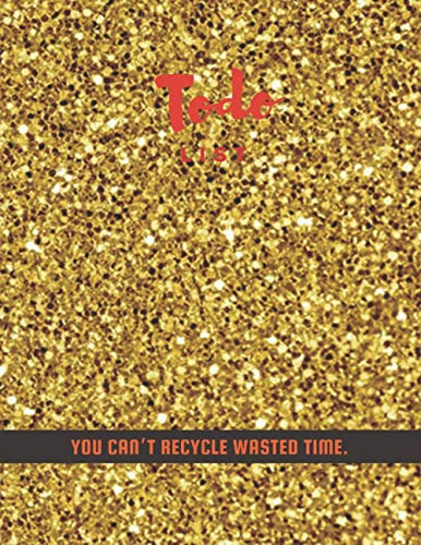 Todo List PAD, Close up golden glitter textured background cover, 100 pages - Large(8.5 x 11 inches)