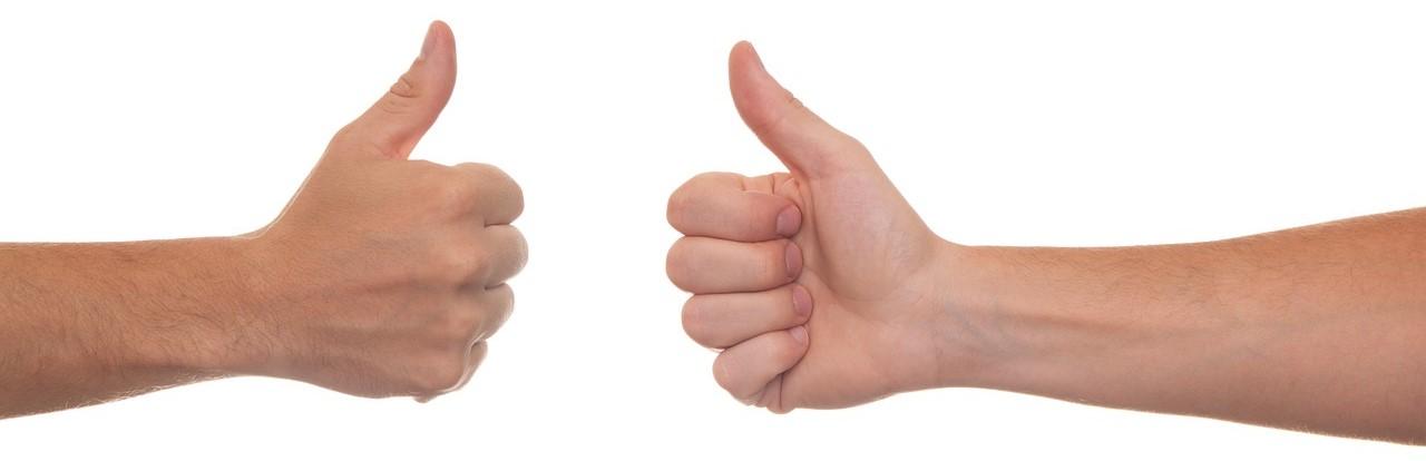 Solange deine Hände in Bewegung sind, wird niemandem die Daumenspitze auffallen.