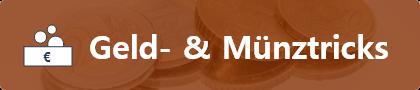 Zaubertricks mit Münzen und Geld