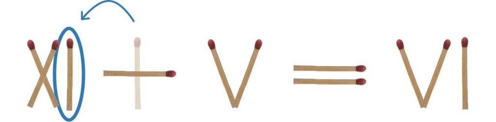 Streichholzrätsel 3 Römische Zahlen Lösung 2