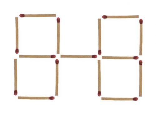 Streichholzrätsel 4 Quadrate