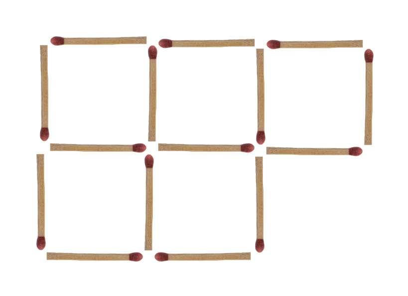 Streichholzrätsel 4 Quadrate Lösung 2