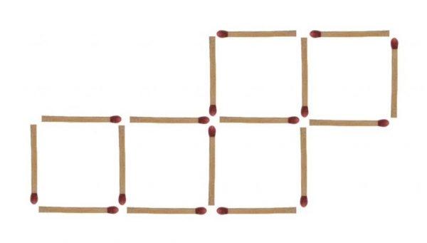 Streichholzrätsel 5 Quadrate