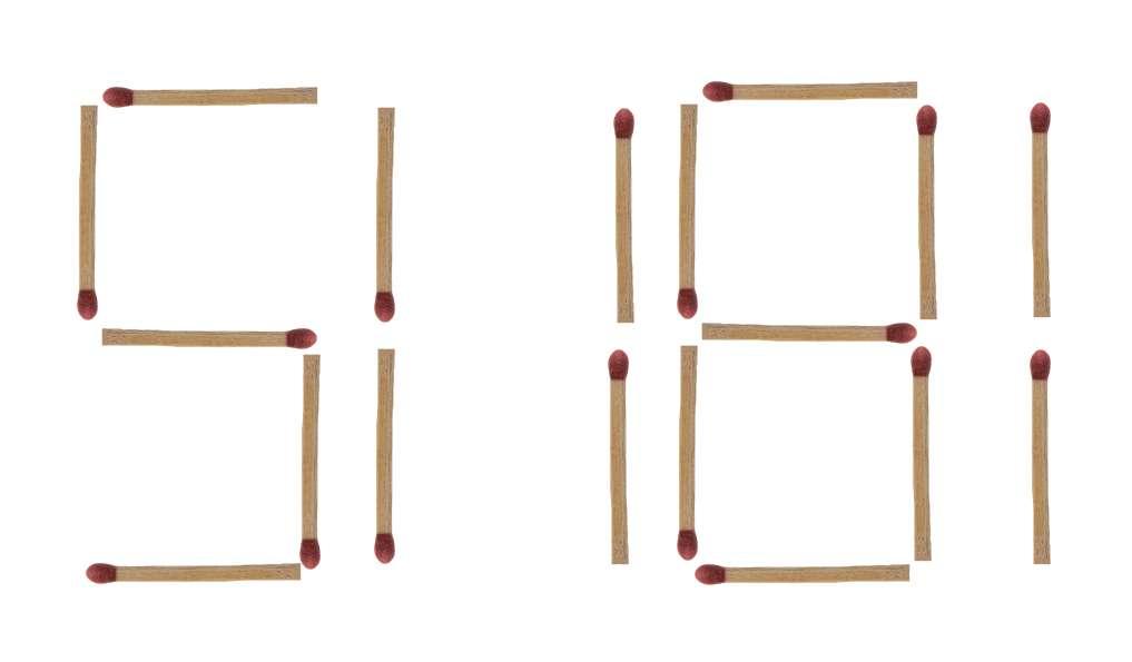 Streichholzrätsel 508 Lösung 1