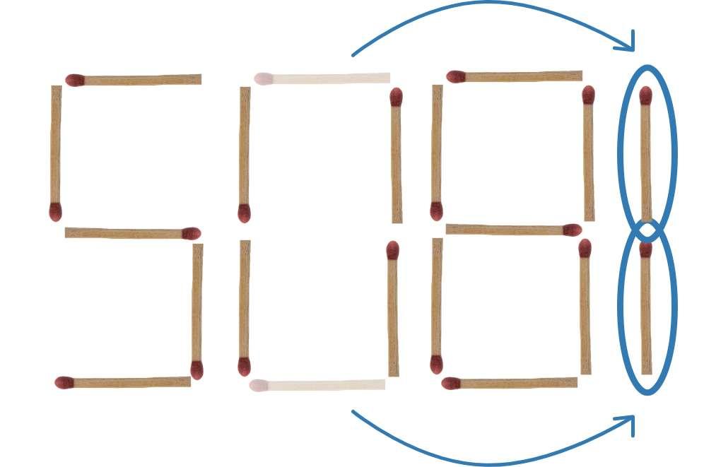 Streichholzrätsel 508 Lösung 2
