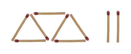 Streichholzrätsel Dreieck