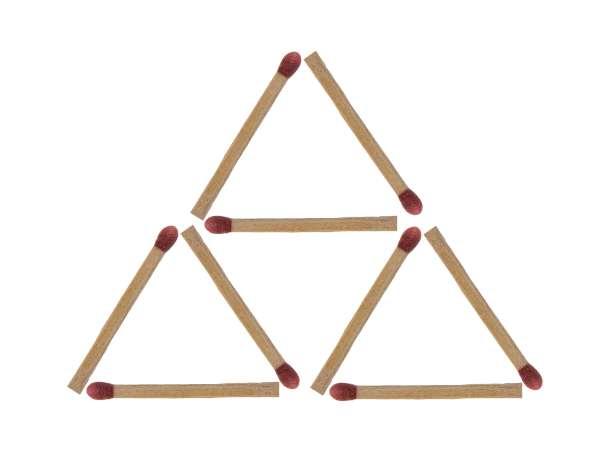 Streichholzrätsel Dreieck Lösung