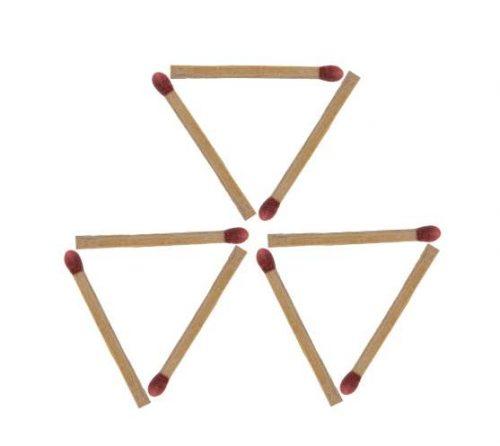 Streichholzrätsel Dreiecke