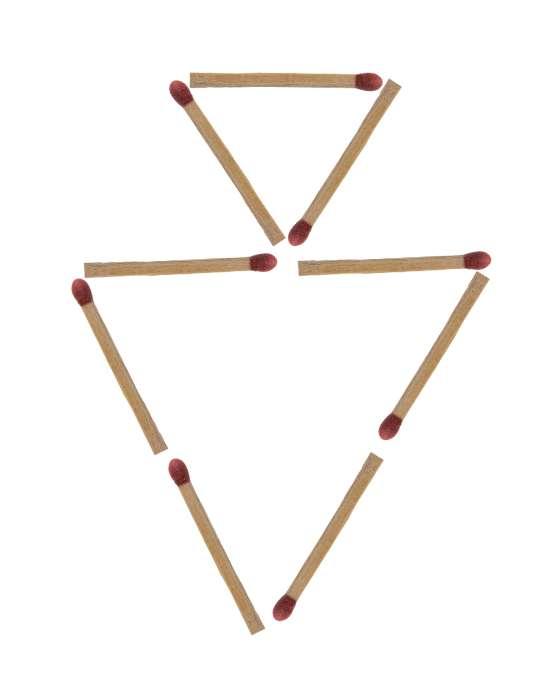 Streichholzrätsel Dreiecke Lösung 1