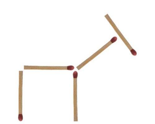 Streichholzrätsel Esel