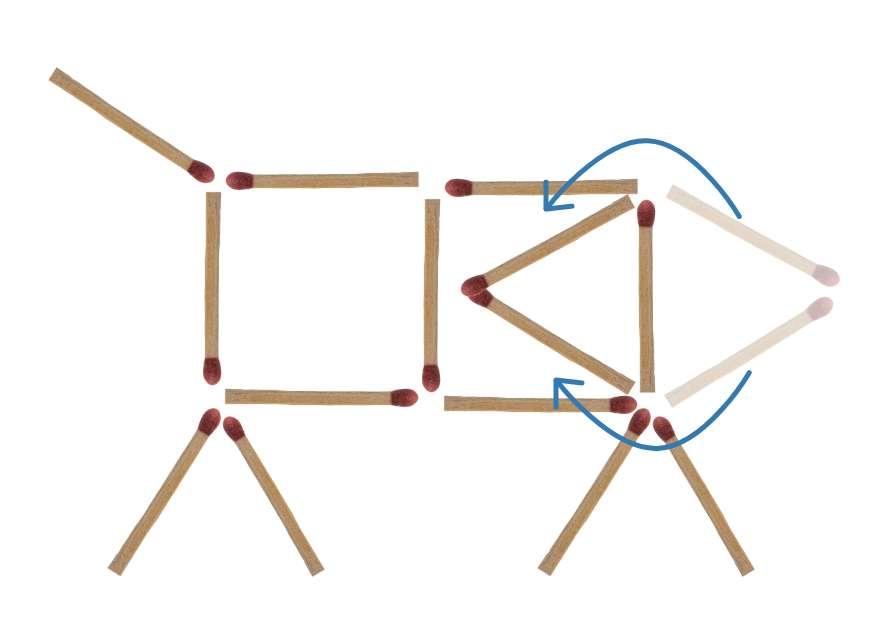 Streichholzrätsel Hund Lösung