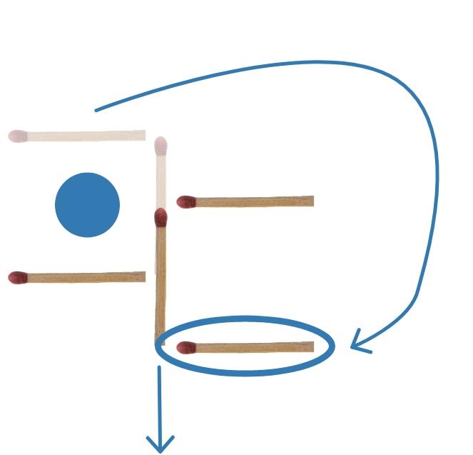 Streichholzrätsel Lösung Schaufel (2)