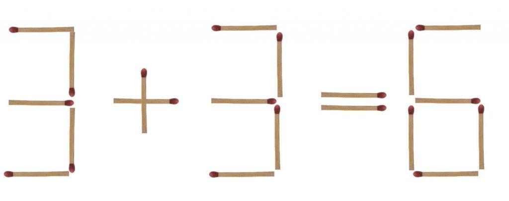 Streichholzrätsel Zahlen Lösung