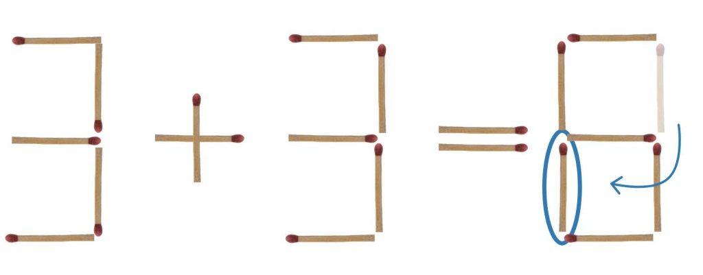 Streichholzrätsel Zahlen Lösung 1