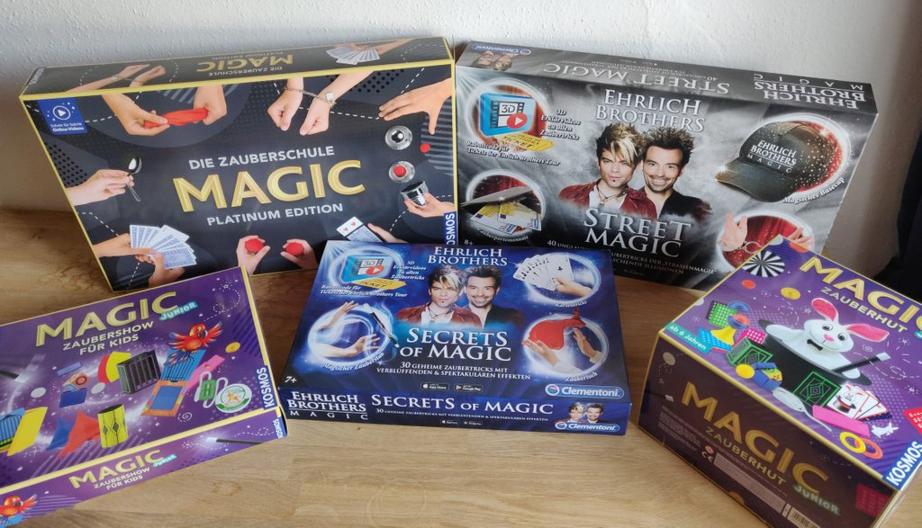 Die 5 von mir getesteten Zauberkästen